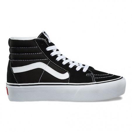 Chaussure Girl VANS SK8 HI Platform Black White