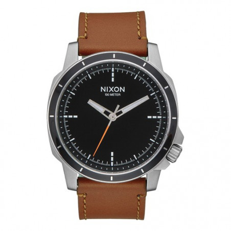 Montre NIXON Ranger OPS Leather Black Saddle