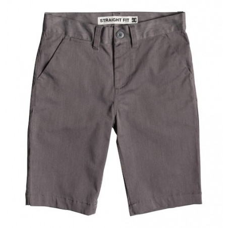 Short Kid DC Worker Straight Chino Grey Heather
