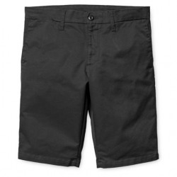 Short CARHARTT WIP Sid Black Rinsed