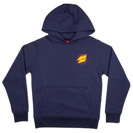 Sweat Kid SANTA CRUZ Flame Hand Dark Navy