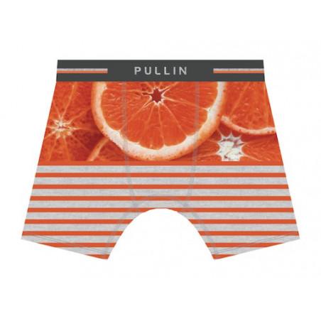 Boxer PULL-IN Fashion 2 Coton Imprimé Orangestripe
