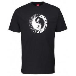 T-shirt SANTA CRUZ Scream Ying Yang Black