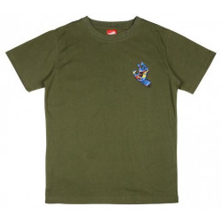T-shirt Kid SANTA CRUZ Primary Hand Olive