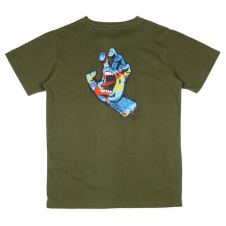 T-shirt Kid SANTA CRUZ Primary Hand Olive