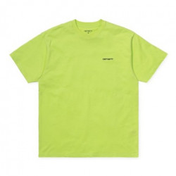 T-shirt CARHARTT WIP Script Embroidery Lime Black
