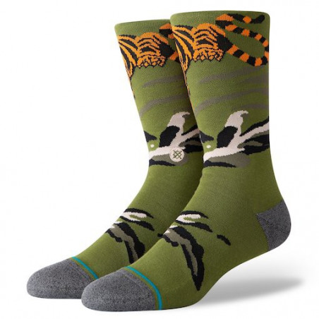 Chaussettes STANCE Big Cat Crew Green
