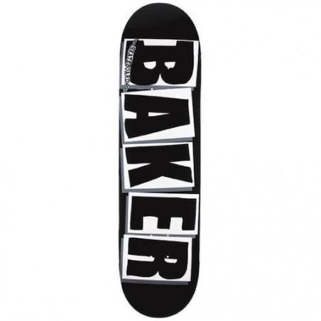 """Skateboard BAKER Brand Logo Black White 8"""""""