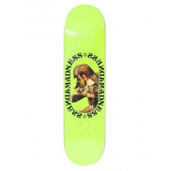 "Skateboard MADNESS Son Neon Yellow R7 8"""