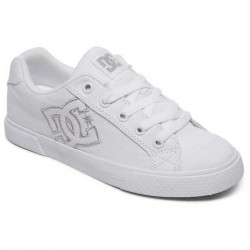 Chaussure Girl DC Chelsea TX White Silver