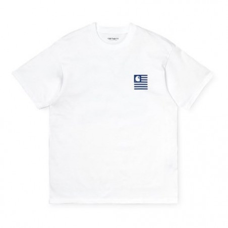 T-shirt CARHARTT WIP Waving State Flag White