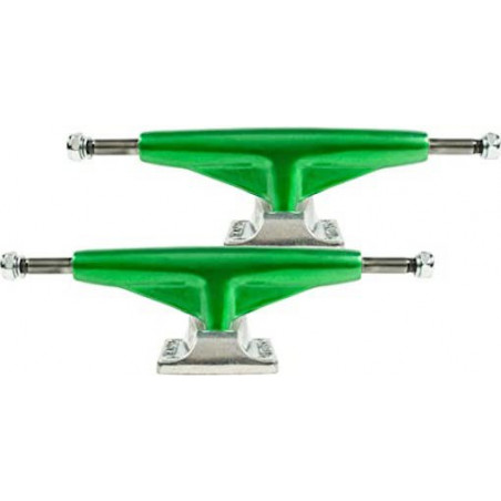 Paire Trucks TENSOR Alum Lo Mirror Green Raw 5,25