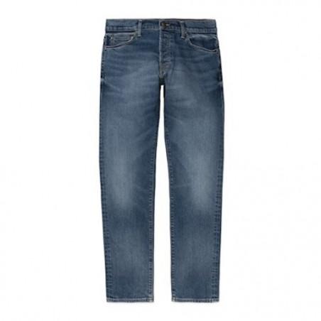Jean CARHARTT WIP Klondike Blue Mid Used Wash
