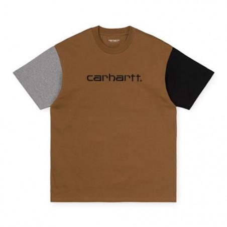 T-shirt CARHARTT WIP Tricol Hamilton Brown