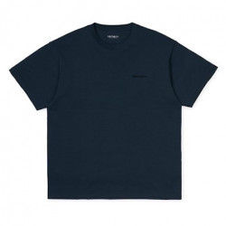 T-shirt CARHARTT WIP Script Embroidery Admiral Black