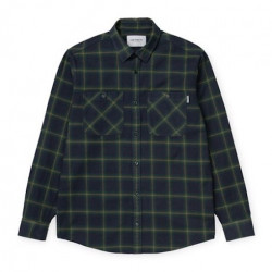 Chemise CARHARTT WIP Darren Bottle Green