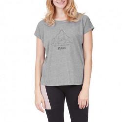 T-shirt Girl PICTURE Liz Dark Grey Melange