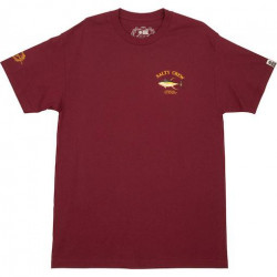 T-shirt SALTY CREW Ahi Mount Burgundy