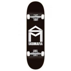 Skateboard SK8 MAFIA House Logo Black 7.75