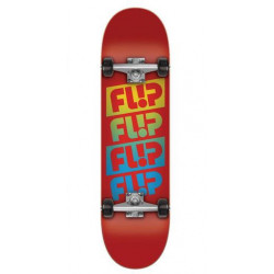 Skateboard FLIP Team Quattro Red 7,88