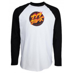 T-shirt SANTA CRUZ Flaming Japanese Dot...