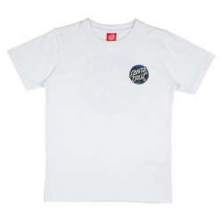 T-shirt Kid SANTA CRUZ Hand Splatter White