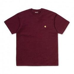 T-shirt CARHARTT WIP Chase Bordeaux Gold