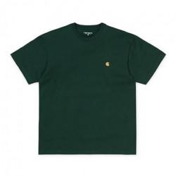 T-shirt CARHARTT WIP Chase Bottle Green Gold