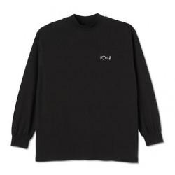T-shirt POLAR Script Mockneck Black
