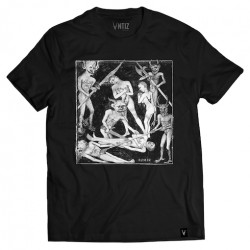 T-shirt ANTIZ Hades Black White