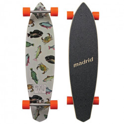 Longboard MADRID Dude Maxed Fish 38,75""