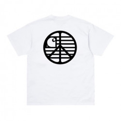 T-shirt CARHARTT WIP Peace State White Black