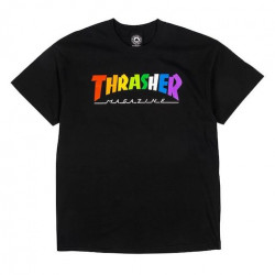 T-shirt THRASHER Rainbow Mag Black