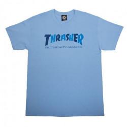 T-shirt THRASHER Checkers Logo Carolina Blue