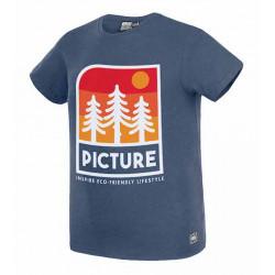 T-shirt Kid PICTURE Markau Dark Blue Melange