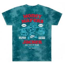 T-shirt JACKER Money Makers Teal Tie Dye