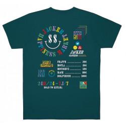 T-shirt JACKER Happiness Market Dark Teal