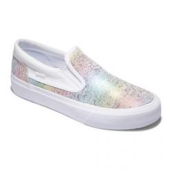 Chaussure Girl DC Slip Rainbow