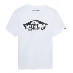 T-shirt Kid VANS Otw Logo White Black