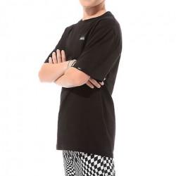 T-shirt Kid VANS Left Chest Logo Black White