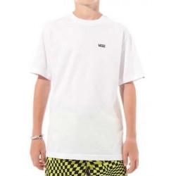 T-shirt Kid VANS Left Chest Logo White Black