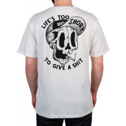 T-shirt THE DUDES Too Short Smokes Off White