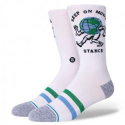 Chaussette STANCE Keep On Movin White