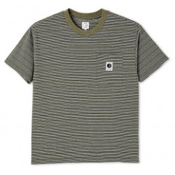 T-shirt POLAR Stripe Pocket Army Green