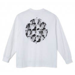 T-shirt POLAR Sequence Fill Logo White