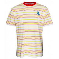 T-shirt SANTA CRUZ Mini Hand Stripe White