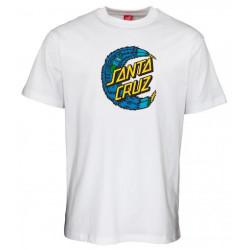T-shirt SANTA CRUZ Bigfoot Moon Dot White