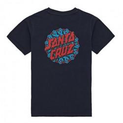 T-shirt Kid SANTA CRUZ Handy Dot Dark Navy