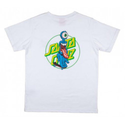 T-shirt Kid SANTA CRUZ Grip Dot White
