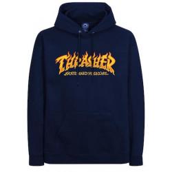 Sweat THRASHER Fire Logo Navy Blue